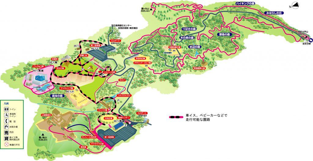 広島市森林公園全体図