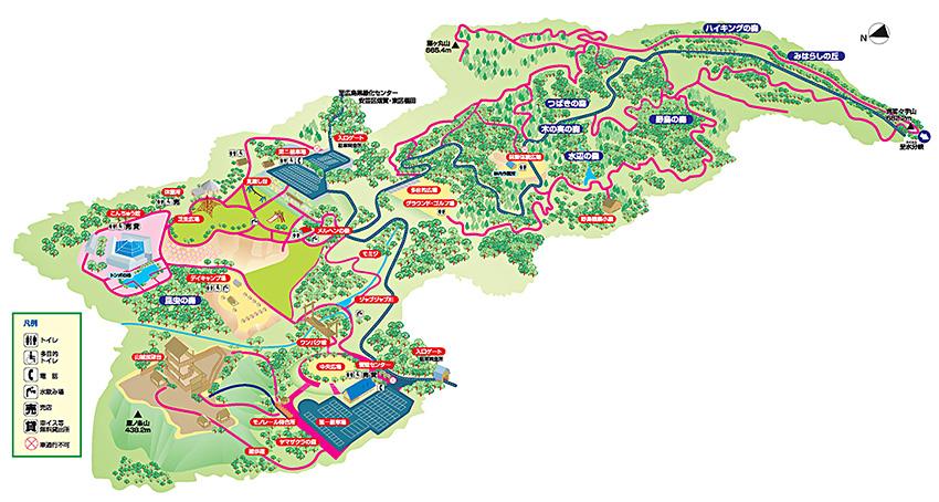 森林公園全体図