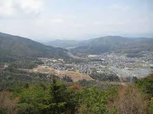 山城-広島市中心部方面を望む